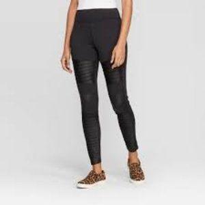 A New Day™ Black Women's High Waist Moto Leggings